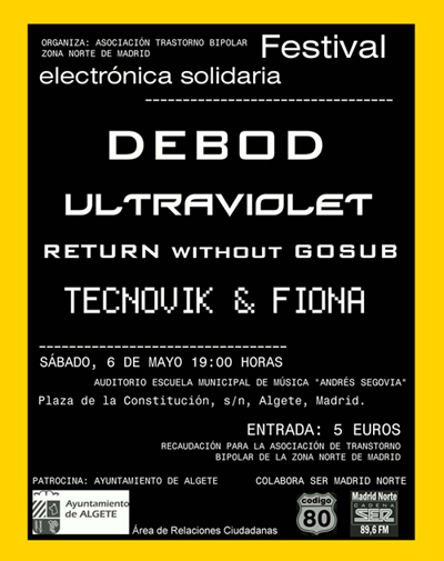 RETURN without GOSUB live with Debod, Ultraviolet and Tecnovik & Fiona