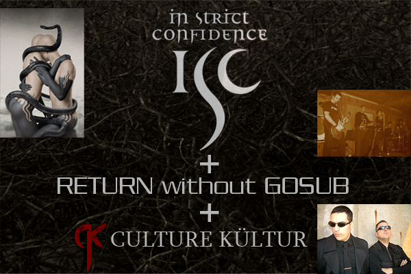 RETURN without GOSUB live with In Strict Confidence and Culture Kultur @ Sala Caracol Madrid